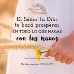 Dios te hará prosperar
