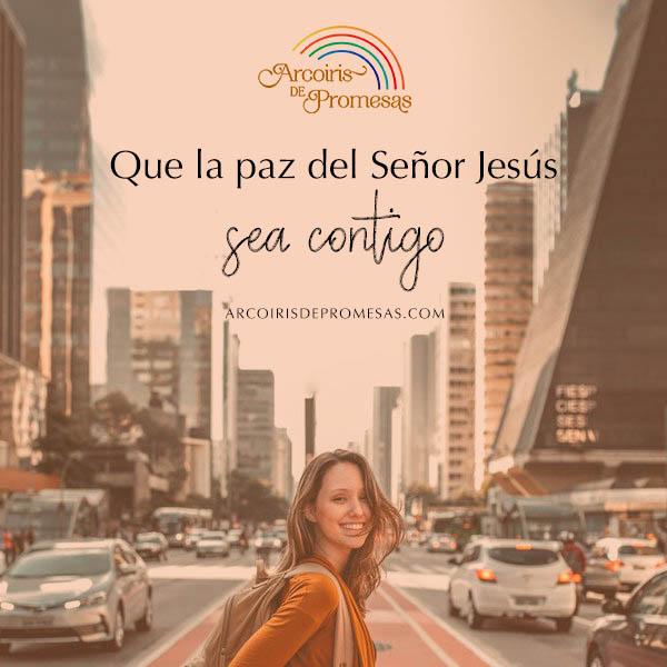 la paz sea contigo oración de paz