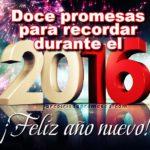 12 promesas para recordar durante el 2016