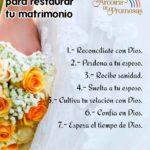 7 pasos iniciales para restaurar tu matrimonio