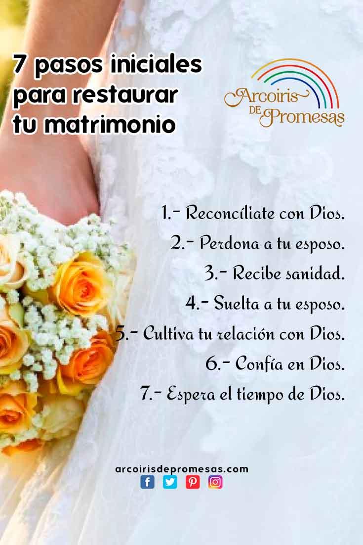 Restaurar Matrimonio Biblia : Pasos iniciales para restaurar tu matrimonio arcoiris de promesas