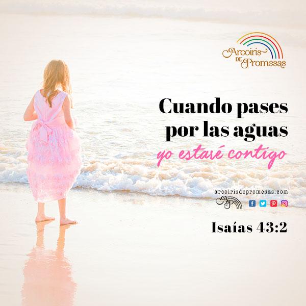 cuando pases por las aguas mensajes cristianos de aliento arcoiris de promesas