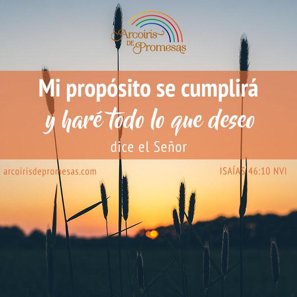 el proposito de dios se cumplira promesas de dios